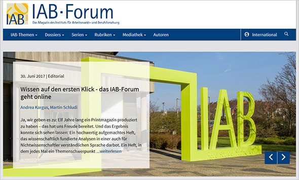 Screenshot IAB--Forum online deutsch